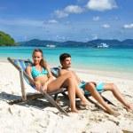 Couple on a beach — Stock Photo #1815265