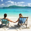 Couple on a beach — Stockfoto #1815299
