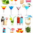 Stock Photo: Cocktails collection