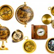 Compasses and globes — Stock Photo
