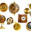 Stock Photo: Compasses and globes