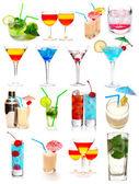 Cocktails collectie — Stockfoto