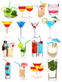 Cocktails samling — Stockfoto