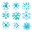 Snowflake set - Stock Vector