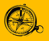 Old grunge compass — Stock Vector