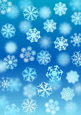 Snowfall background (vector) — Vector de stock
