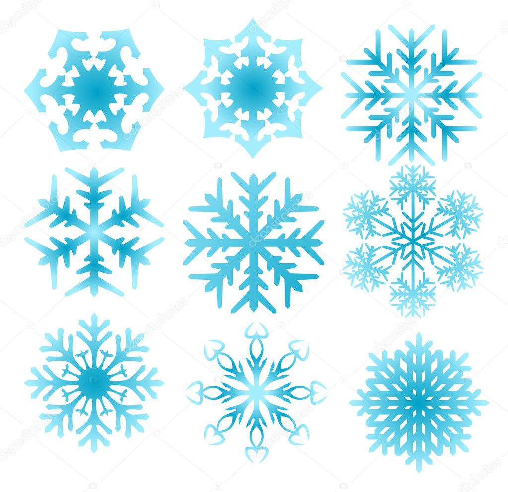 Snowflake set — Stock Vector #1874680