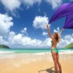 Woman with sarong — Stock Photo