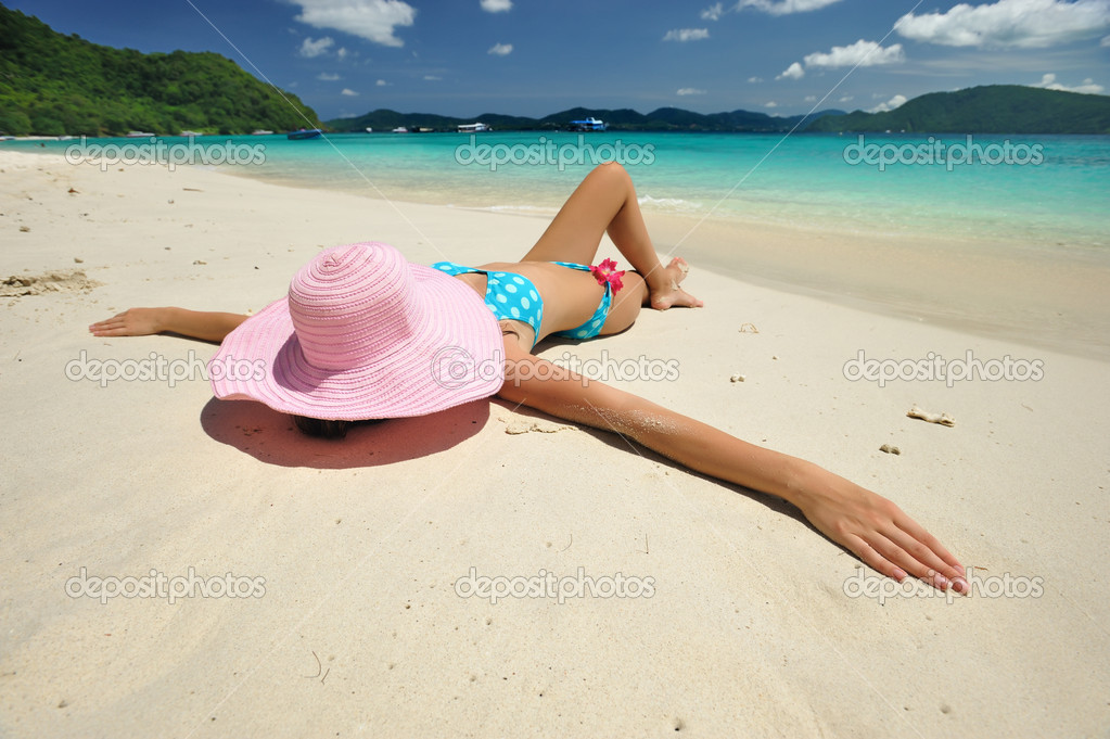 Woman on a beautiful beach  Stock Photo #2123932
