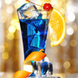 Stock Photo: Blue Curacao cocktail