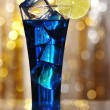 Blue Curacao cocktail — Stock Photo