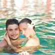 Couple in pool — Stock Photo #2316991