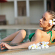 Girl in pool — Stock Photo #2317033