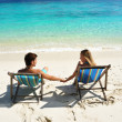 Couple on a beach — Stock Photo #2317235