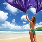 Woman with sarong — Stock Photo #2423249
