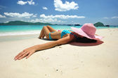 Relax on a beach — Stock Photo