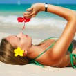 Beach girl — Foto Stock