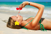 Beach girl — Fotografia Stock
