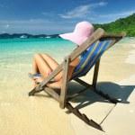 Girl on a beach — Stock Photo #2534247