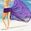 Stock Photo: Womwith sarong
