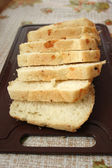 Cut white bread — Stock Photo