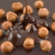 Stock Photo: Hazelnut chocolate