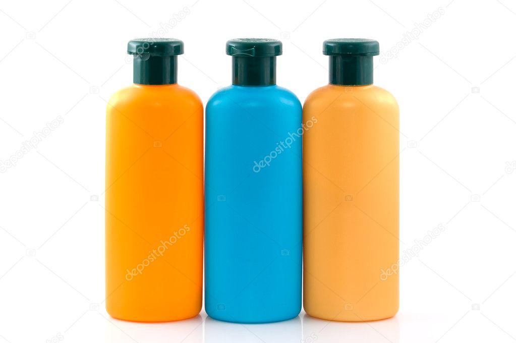 Бутылки косметики