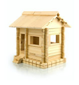 Wooden toy house — Stock Photo