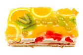 Mixed fruit biscuit — Stock Photo