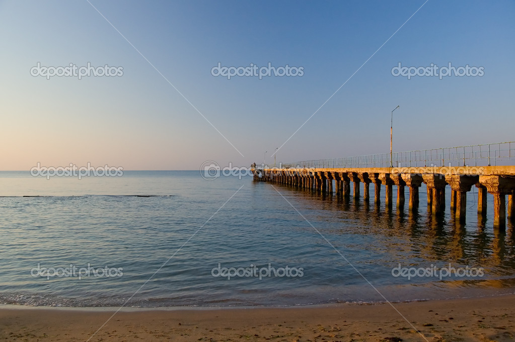 Old jetty at morning — Stock Photo #2157483