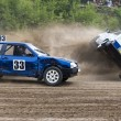 Struggle in rally — Stock Photo