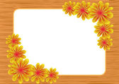 Frame made of a lot of flowers — Stock Photo