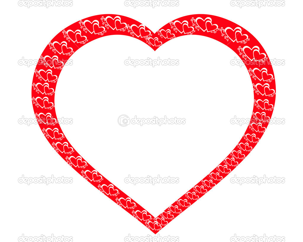 Heart framework on a white background — Stock Photo #1221751