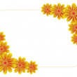 Frame made of lot of flowers — Stock Vector #1223111