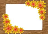 Frame made of a lot of flowers — Stock Vector