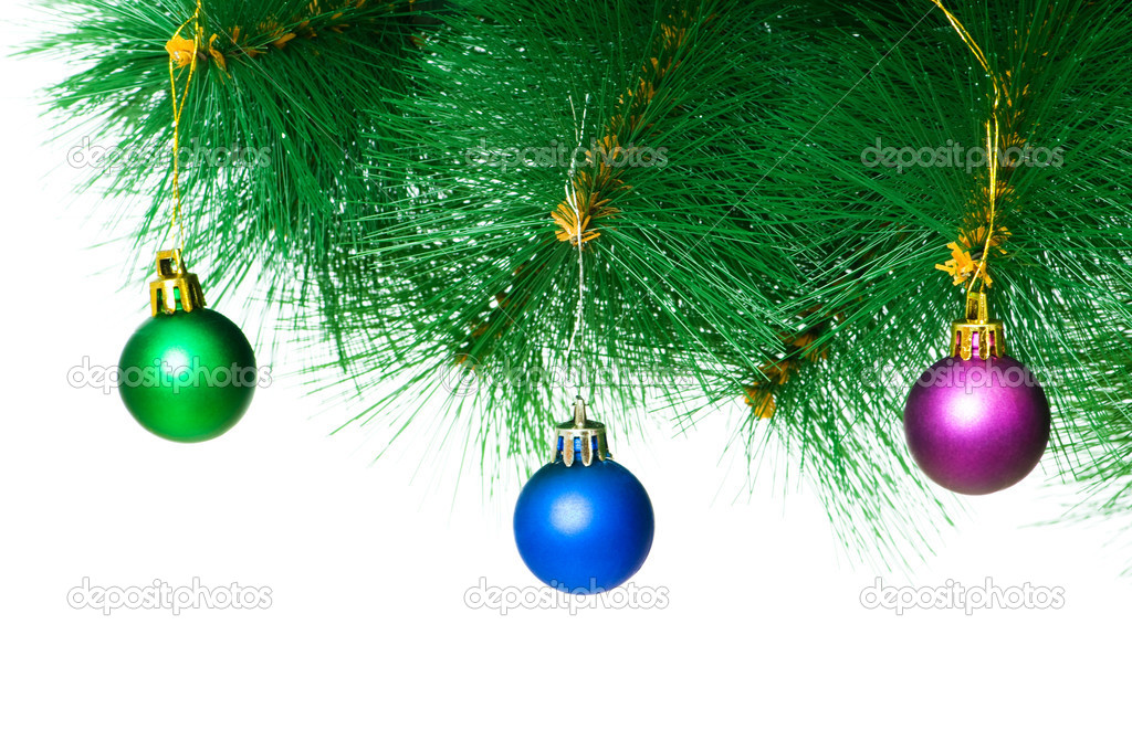 Christmas decoration on the tree — Stock Photo #1192800