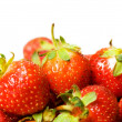Stock Photo: Red strawberries isolated on the white