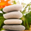 Stack of spa pebbles — Stock Photo