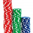 Royalty-Free Stock Photo: Casino chips isolated on the white