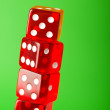 Royalty-Free Stock Photo: Red dice stack