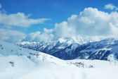 Mountains under snow in winter — Stock Photo