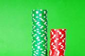 堆栈的赌场筹码 — 图库照片