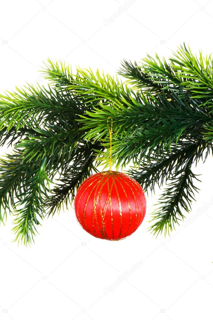 Christmas decoration isolated on the white background — Stock Photo #1244717
