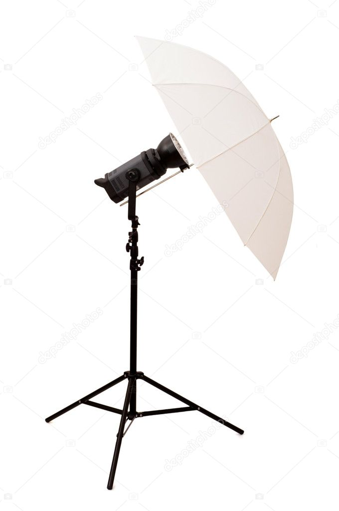 Studio umbrella isolated on the white background — Foto de Stock   #1245430