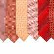 Silk ties isolated on white — Stock Photo #1252604