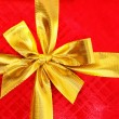 Close up of red gift box — Stock Photo #1252651