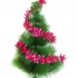 Christmas tree isolated on the white bac — Stock Photo