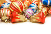 Lots of christmas decoration on white — Stock Photo