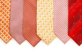 Selection of ties isolated on the white — Stock Photo