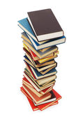 Stack of books isolated on the white — Foto de Stock